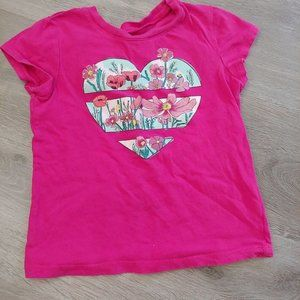 Girls KidPik Floral Heart Tee